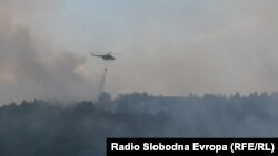 Macedonia - Fire in Bitola. The fire engulfed the hills of the five villages Crnobuki, Lisolaj, Lopatica, Dervenik and Beranci.