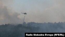 Macedonia - Fire in Bitola. The fire engulfed the hills of the five villages Crnobuki, Lisolaj, Lopatica, Dervenik and Beranci.