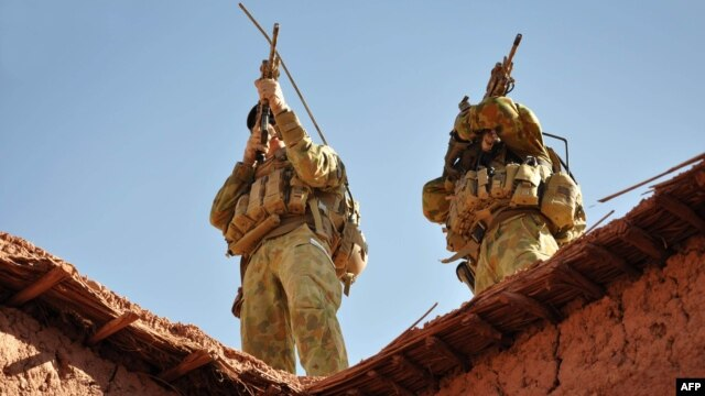 Australian soldiers during an operation in southern Afghanistan in 2009 (file photo)