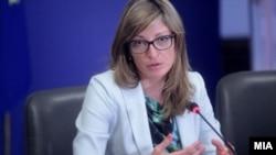 Бугарската министерка за надворешни работи Екатерина Захариева.