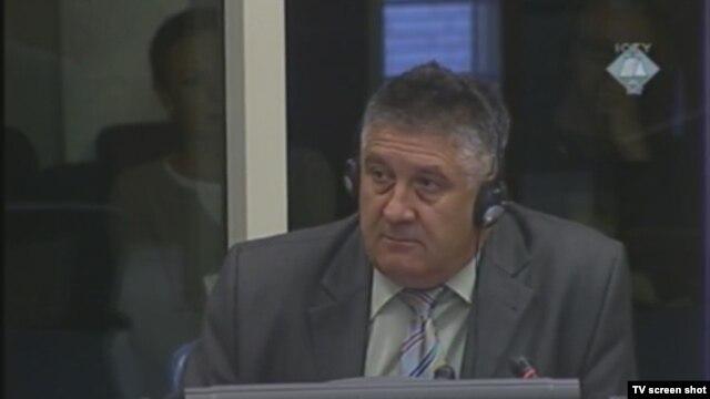 Svjedok Blagoje Kovačević u sudnici 18. listopada 2012.