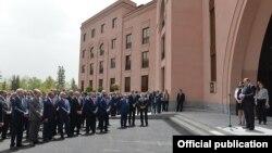 Ջերմուկի «Հայաթ Փլեյս» հյուրանոցի բացումը, լուսանկարը՝ նախագահականի