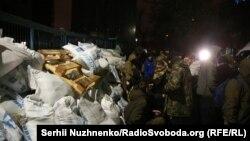 Блокада NewsOne, Киев, 3 декабря 2017