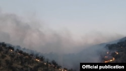 Iran--Fire in Zagros forests