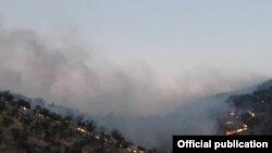 عکسی آرشیوی از آتشسوزی در کوههای زاگرس