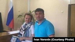 Вячеслав Егоров и его адвокат Мария Эйсмонт
