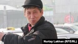 Таксист Қайрат Ілиясов. Алматы, 13 ақпан 2013 жыл.