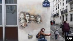 У здания редакции Charlie Hebdo в Париже