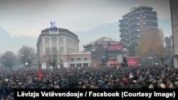 Pamje nga protesta e sotme e opozitës në Pejë