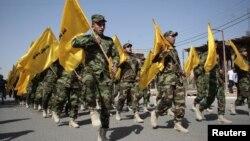 На праздновании Al Quds (День Иерусалима) в иракском городе Басра. 2 августа 2013 года.