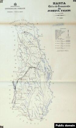 Județul Fălciu: căile de comunicație la 1897