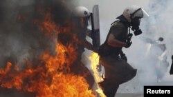 Protestat në Greqi