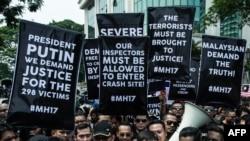 Протест проти дій Москви щодо збитого лайнера під посольством Росії в Малайзії, Куала-Лумпур, 22 липня 2014 року