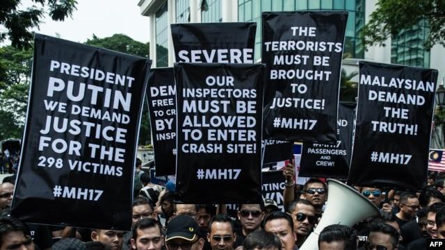Протест під посольством Росії у Малайзії, 22 липня 2014