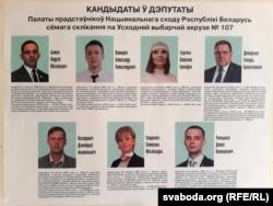 Кандыдаты ў дэпутаты па 107-й выбарчай акрузе