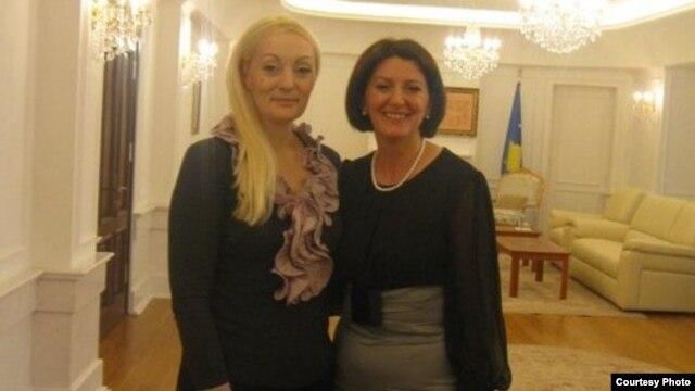 Sanija Murati sa predsednicom Kosova Atifete Jahjaga