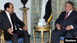رئيس الجمهورية جلال طالباني ورئيس الوزراء نوري المالكي