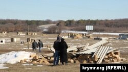 Crimea, Ukraine - In the neighborhood Oaks demolished samostroi 21Feb2015