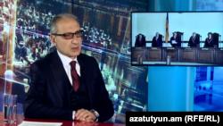 Экс-судья Паргев Оганян в студии Азатутюн ТВ, Ереван, 9 сентября 2019 г.