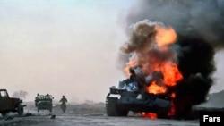 في احدى جبهات الحرب العراقية الايرانية