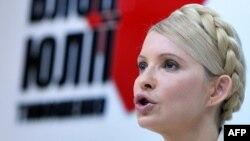 Юлия Тимошенко, осужденный бывший премьер-министр Украины.