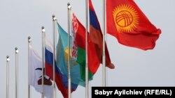 Флаги государств - членов ЕАЭС.