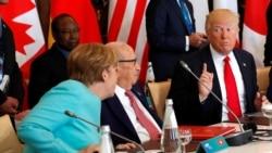 Трамп у НАТА і на саміце G7, затрыманьне ў менскім мэтро і стан банкаўскай сыстэмы Беларусі