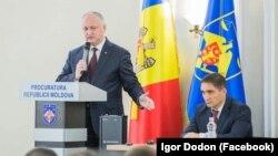 Președintele Igor Dodon în fața procurorilor, prezentandu-l pe noul lor șef. 29 noiembrie 2019