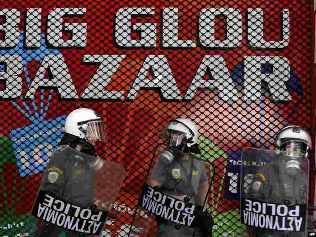 Грэцыя, Атэны: на вуліцах сталіцы ў часе 24-гадзіннага страйку.