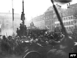 Парад победы войск западных союзников. Страсбург, 1 декабря 1918. В Германии в эти месяцы царили прямо противоположные настроения