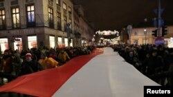 Демонстрантрація проти судової реформи у Польщі