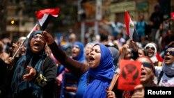Акция с требованием отставки Мурси на площади Тахрир в Каире 1 июля