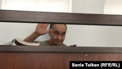 Maks Boqaev in a court in Atyrau in June