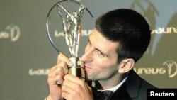 Теннисист из Сербии Новак Джокович получил премию Laureus в 2012 году