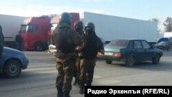 Dagestan / The strike of truck drivers.