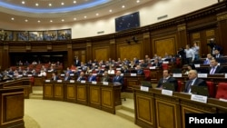 На заседании парламента Армении