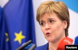 Первый министр Шотланди Никола Стерджен - убежденная сторонница независимости и ЕС