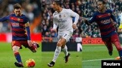 Messi, Ronaldo și Neymar