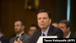 Директор ФБР Джеймс Коми на слушаниях в Сенате США.
