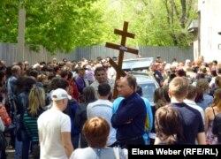 Прощальная панихида по Егору Хмилю. Темиртау, 28 мая 2012 года.