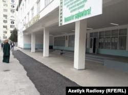 Избирательный участок в школе №48 г. Ашхабада