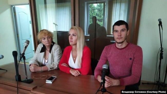 Владимир Сотников в суде за участие в поддержку врача Элины Сушкевич