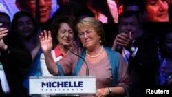 ميشل باشلت، برنده انتخابات ریاست جمهوری شیلی