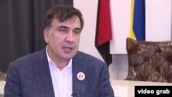 """Михаил Саакашвили, Украинаның """"Жаңа күштер қозғалысы"""" оппозициялық қозғалысының жетекшісі, Грузияның экс-президенті."""