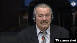 Defence witness Nikola Vračar during the trial of Ratko Mladic