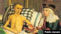 Святая Агнесса у постели больного
