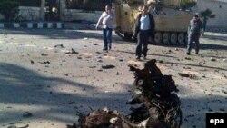 نیروهای امنیتی مصر در محل یکی از حملات اسلام گرایان در شهر عریش سینا. (عکس از آرشیو)