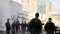 Полицейские на улицах Грозного