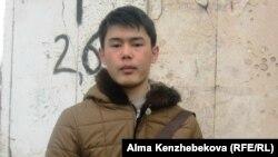 Студент Ержан Тілепбергенов. Алматы, 16 ақпан 2014 жыл.