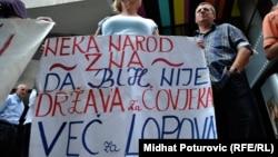 Jedan od mnogobrojnih protesta radnika u BiH
